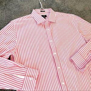 J Crew Pink White Striped Button Down Dres…